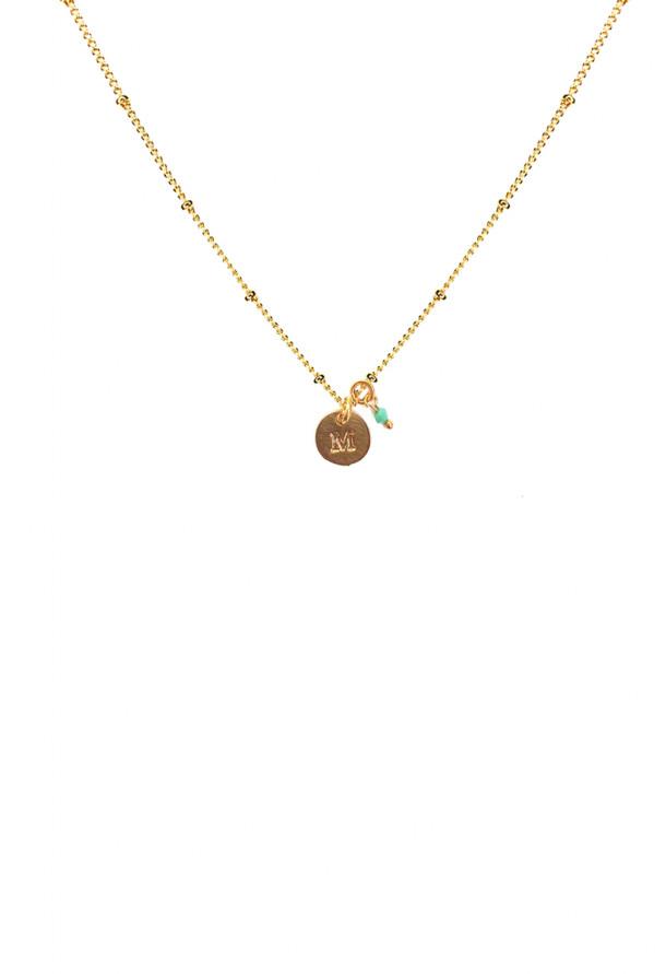 1941844fa743 Collar Inicial M Pretty Little - LEONCESHOP