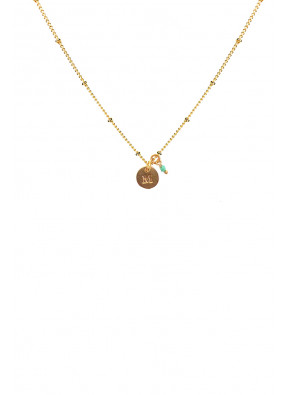 Necklace Inicial M Pretty Little