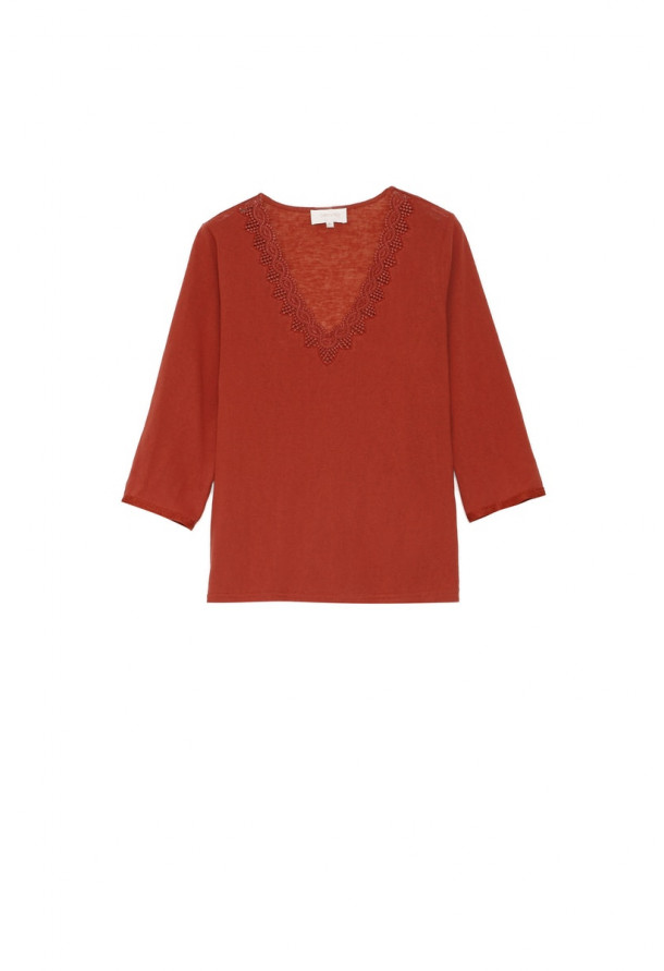 Tee-shirt Ambroise Terracotta