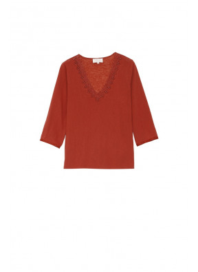 Tee-shirt Ambroise Terracotta