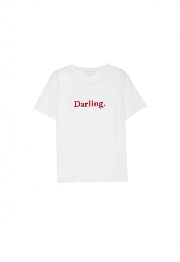 Tee-shirt Amoureuse Écru