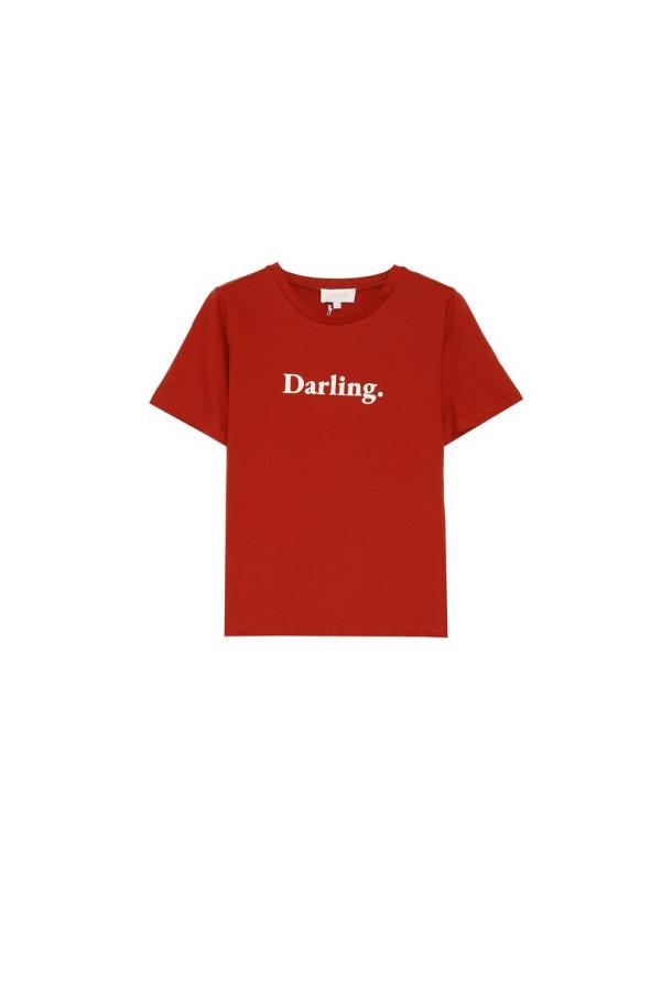 Tee-shirt Amoureuse Terracotta