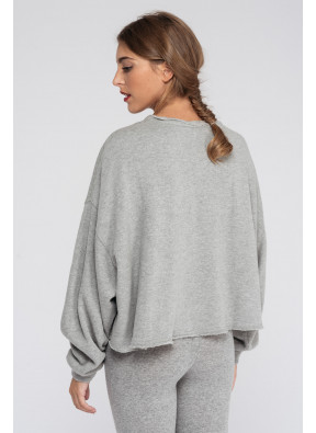 Sweat-shirt Retburg 73 Gris Chine