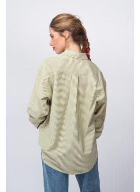 Shirt Rikwood 107 Rayures Écru
