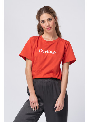 Camiseta Amoureuse Terracotta