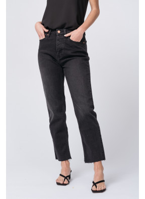 Highwaist cropped Jean Milo Black