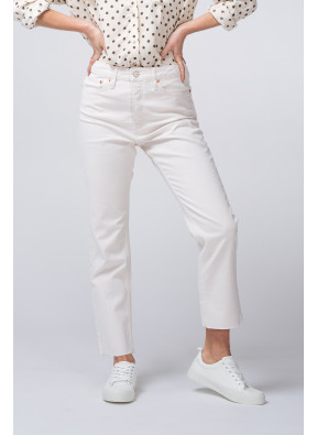 Jean highwaist cropped Milo Off white