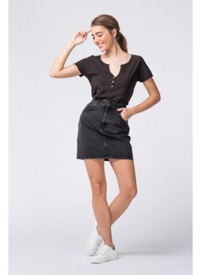 Mini skirt Yopday 194 Black Poivre