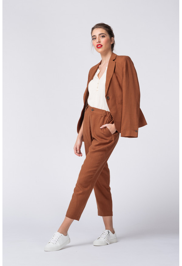 Pant Clyde Lin Tabac