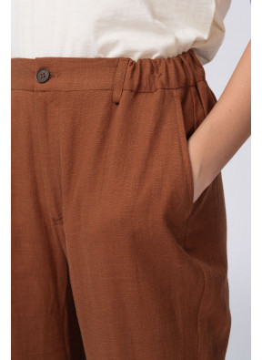 Pantalon Clyde Lin Tabac