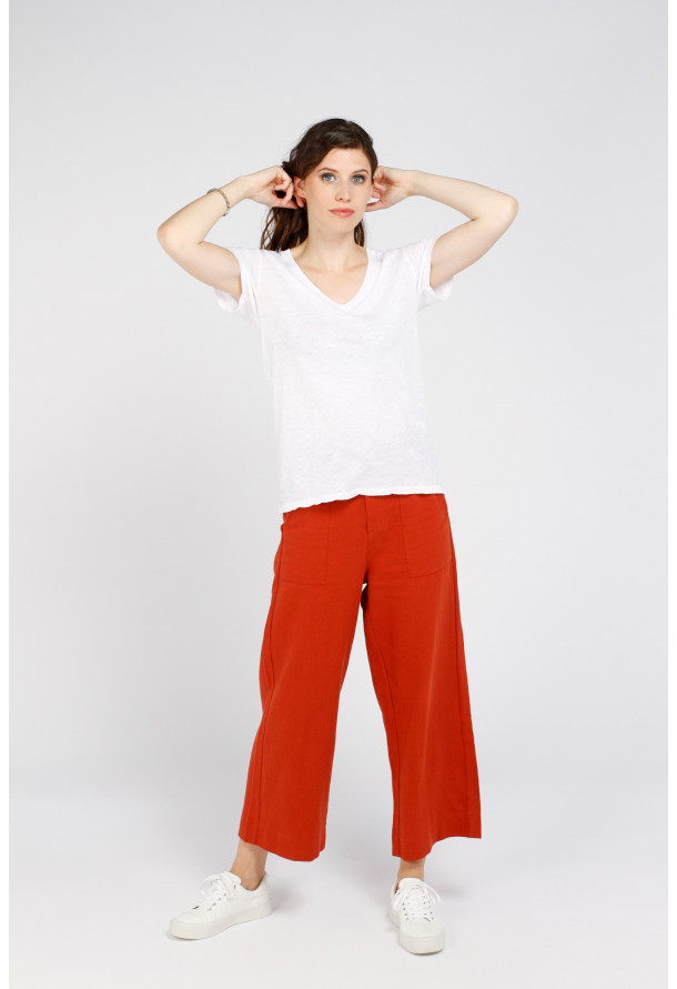 Tee-shirt Cerise bis Blanc