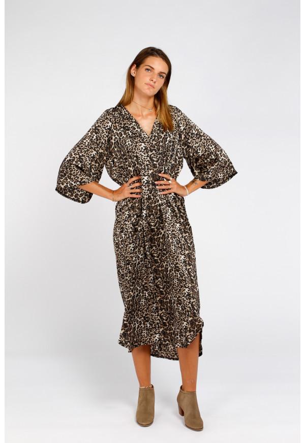 Robe Olga Leopard Black