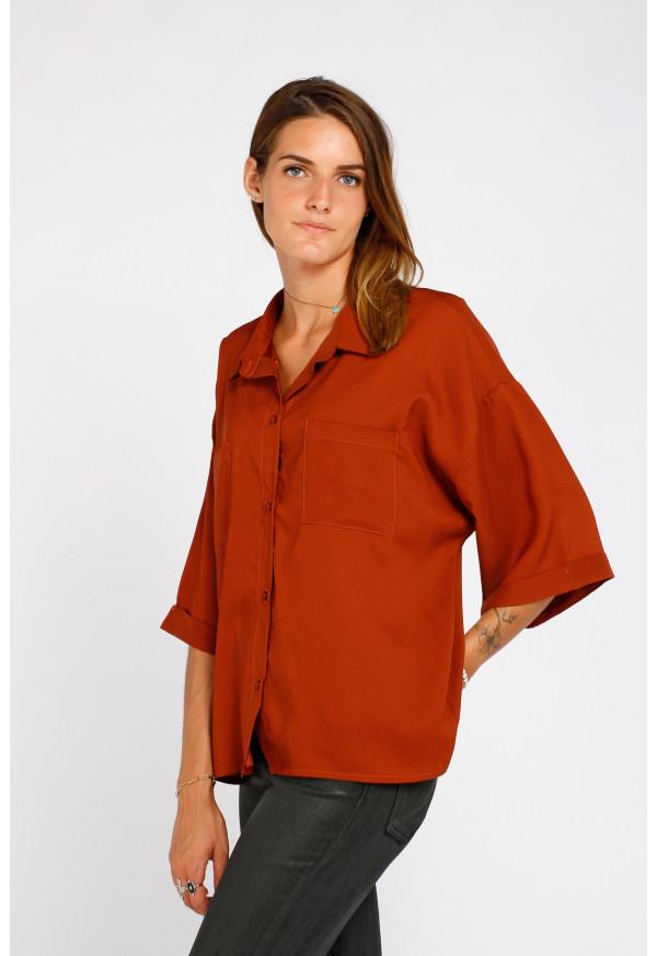 Camisa Amel Terracota