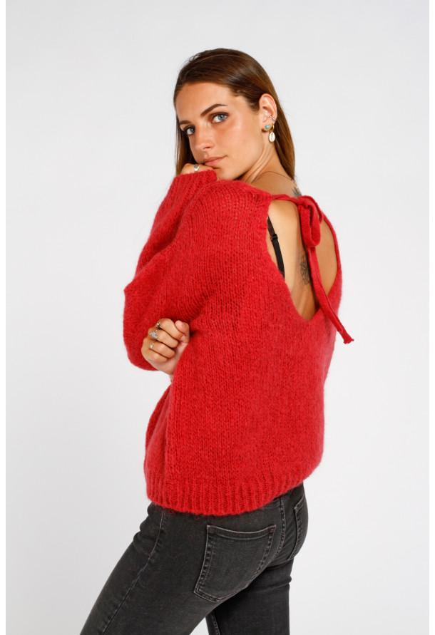 Sweater 19208 Bordeaux