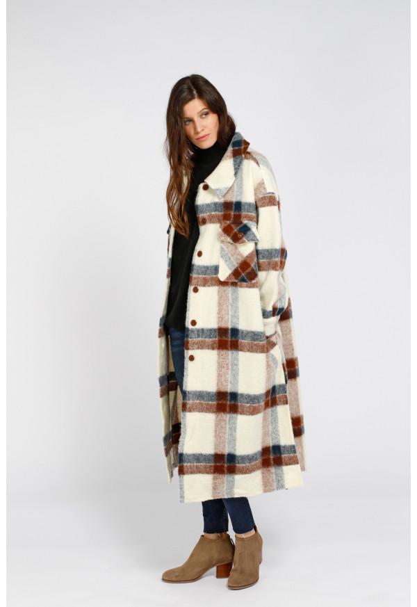 Coat 66081 Crudo/Maron