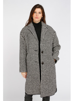 Coat W19N557 Black/Ecru