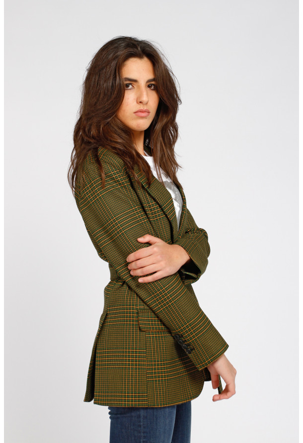 Blazer Rouky Green Check