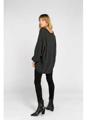 Pull Kybird 18A Anthracite Chiné