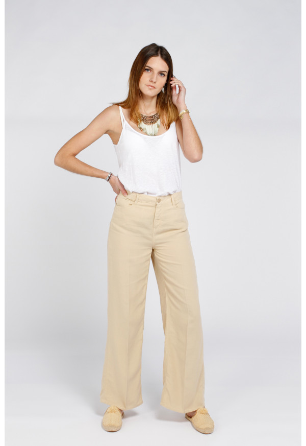 Trouser Ellie Linen Light Sand