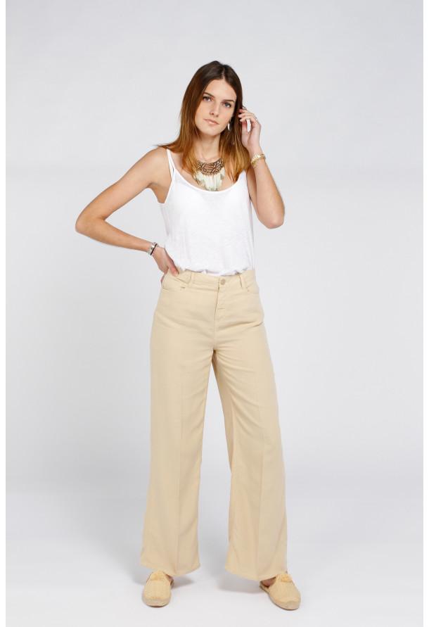 Trouser Ellie Linen Light Sand