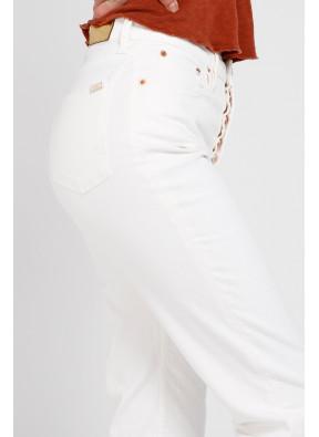 Highwaist cropped jean Milo Off white