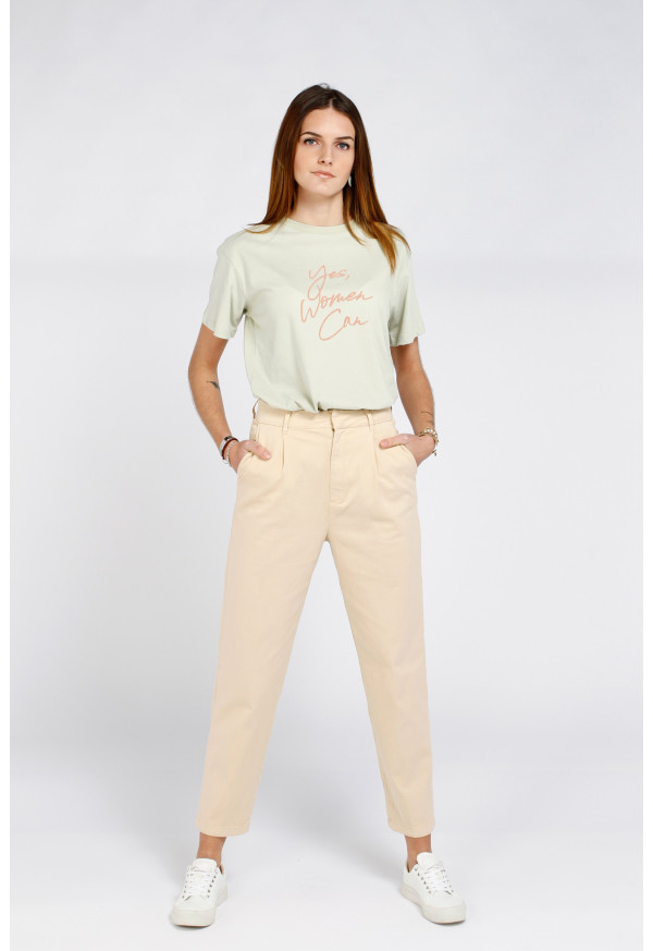 Chino High Waist Ambre Light Sand