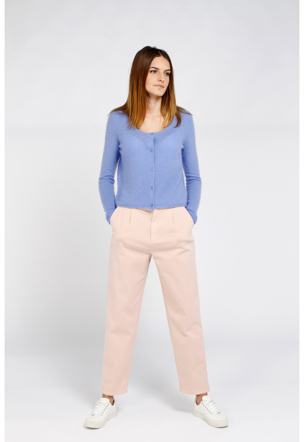 Chino High Waist Ambre Rose Smoke