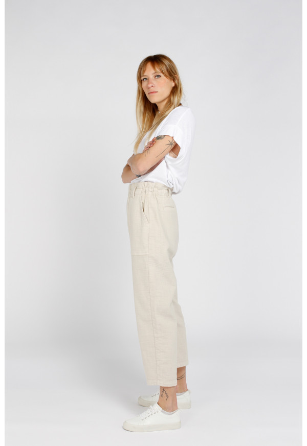 Trouser  Yael Canvas Avoine