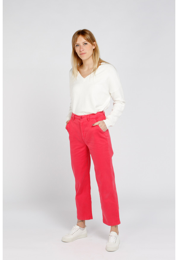 Chino Sandy High Waist Rapsberry