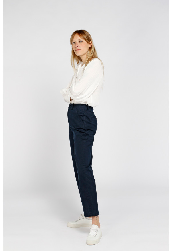 Chino Sandy High Waist Dark Navy