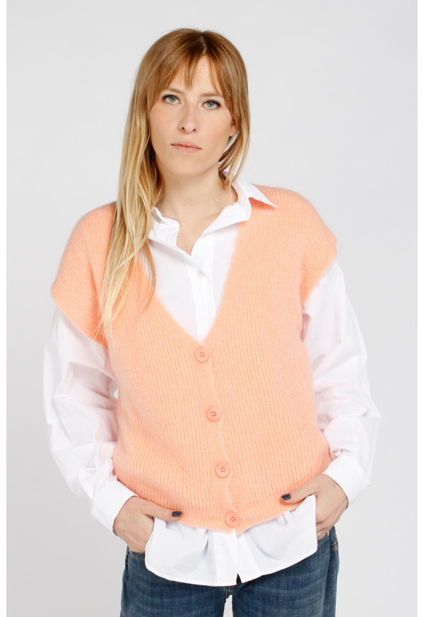 Cardigan 21429 Saumon