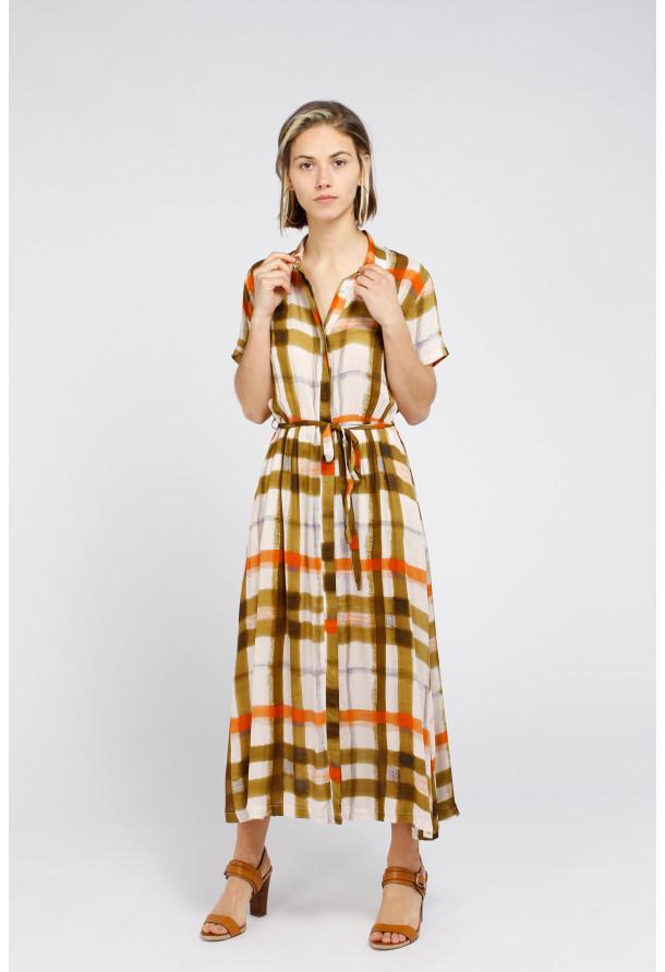 Dress Tania Print Curry