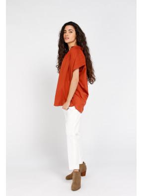 Shirt Emma Solid Terracotta