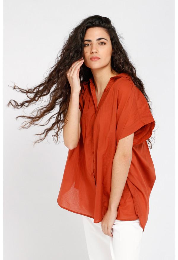 Camisa Emma Solid Terracotta