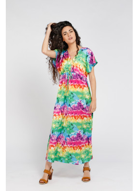 Vestido Brigitte Longue Rainbow