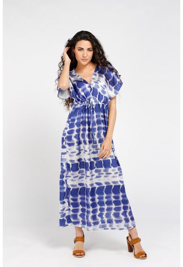 Robe Brigitte Longue Blue