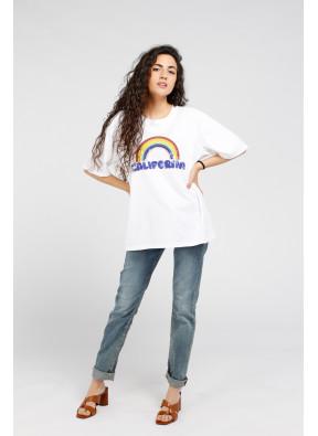 Tee-shirt California White