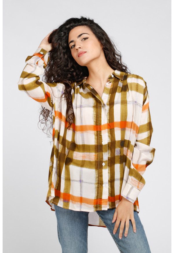 Chemise Madrid Curry Check