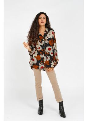Shirt Kelly Fleurs Beige
